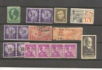 US Lot to check incl. Coil Pairs and Strip / United States Postal Stamps / USA