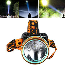 Super Bright Waterproof Head Torch Headlight LED USB Rechargeable Work Headlamp