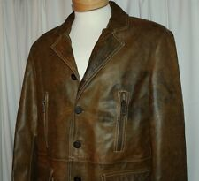 """LOT 78 FODERA """"MADE IN ITALY"""":  Rustic Brown Brass Men Leather Jacket"""