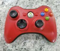 ✅ Genuine OEM Microsoft Xbox 360 Red Controller Wireless - Resident Evil 5