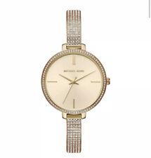 Michael Kors MK3784 Quartz 36mm Jaryn Crystal Gold Sunray Dial Ladies Watch