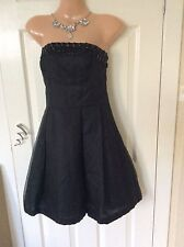 Monsoon Black Bandeau Stoned Dress Size 8/10 Exc Cond Hols 19/7 To 26/7