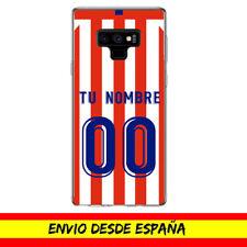 Funda Movil Cases Samsung Camiseta Futbol Compatible con Atletico Nombre Numero