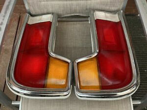 MAZDA ROTARY 1975-81 COSMO RX5 COUPE GENUINE LH & RH IKI TAIL-LIGHTS & SURROUNDS