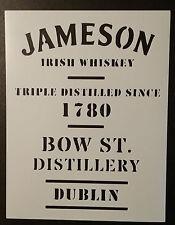 """Jameson Irish Whiskey Dublin 8.5"""" x 11"""" Custom Stencil FAST FREE SHIPPING"""