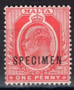 MALTA 1904/11 STAMP Sc. # 30 SPECIMEN MNG