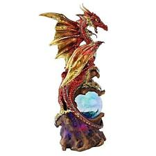 """Design Toscano Exclusive Hand Painted 9"""" Dragon Defender Of Life Source Orb"""
