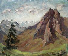 Albert heinzinger 1911-1992 Munich KEMPTEN/peintures bavaroise Alpes 1954