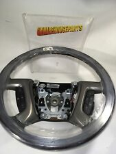 2010-2013 GMC SIERRA CREW CAB BROWN LEATHER STEERING WHEEL W/O HEAT NEW 22947806