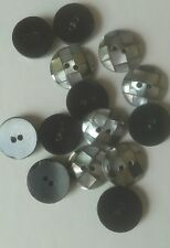 Antique Victorian Buttons Mother of Pearl or Abalone Inlay Domed