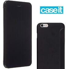 CASEIT Executive Folio Cover For Apple iPhone 6 Plus Flip Book Case Slim Black