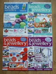 4 x Job Lot Creative Beads & Jewellery Issues 3, 4, 8 and 22