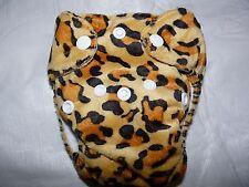 Newborn Preemie Minky Leopard AIO Cloth Diaper Nappy PUL EB