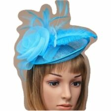 Bright Baby Blue Large Sinamay Hatinator Fascinator Aliceband Wedding Prom