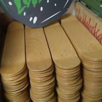 "3 x BLANK NATURAL Skateboard Deck 7,5"" - SKATE DECK/TABLA - TATTOO -CUSTOMIZABLE"