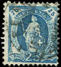 Scott # 112 - 1905 - ' Helvetia '; Large Stars in Frame; White Paper 'ERROR'