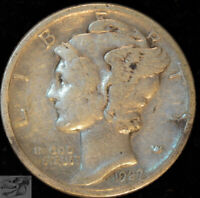 1927 D Mercury Dime, Very Fine+ Condition, Silver, Free Shipping in USA, C4999