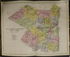 New York, New Century Atlas, 1912 Ulster County, Authentic U1#26