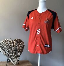adidas St. Louis Cardinals Boys Youth Red Button Down Jersey Size Medium 10-12