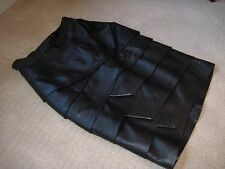 RARE!!  Gianni Versace Couture Pre-Death Leather Origami Fold Skirt 38/40/4/6/8