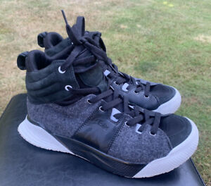 Deckers Lab X Scape Black White Wool Mid Running Shoes Sz 10