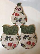 Longaberger Die Cut Coasters With Fruit Design