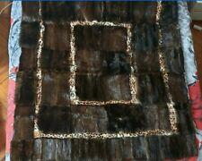 Coperta Vera Pelliccia di Visone e Leopardo confezionata da artigiani
