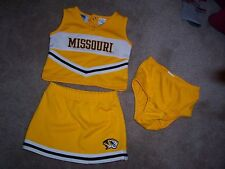 New listing Girls NCAA MIZZOU TIGERS 3 Piece Cheerleading Outfit Size 6-9 Months