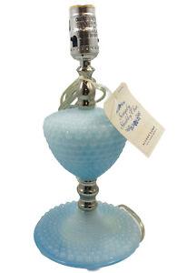 Rachel Ashwell Simply Shabby Chic Blue Hobnail Glass Lamp Vanity NO SHADE