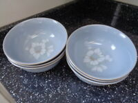 DENBY BLUE DAWN CEREAL BOWLS X 6 - UNUSED