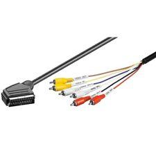1,5 Meter Scart Skart Kabel Adapter Stecker auf 6x Cinch Chinch RCA AV Composite