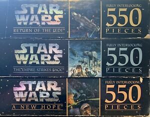 3 Star Wars 550 Puzzle A New Hope The Empire Strikes Back Return Of The Jedi Lot