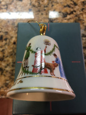 """Lenox """"Deck the Halls"""" Wind Up Musical Bell Ornament"""