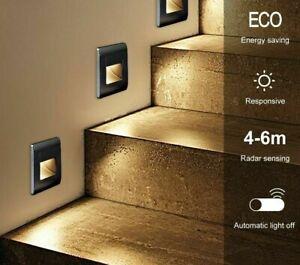 Recessed Led Wall Lamp PIR Motion Sensor Stair Case Light Step Lamp Corridor