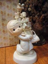 Precious Moments Figurine Bundles of Joy 1982 E2374 Shopper Cat Dog MIB