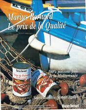Publicité Advertising 117  1998  soupe de poissons provençale Marius Bernard méd