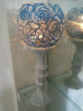 Wedding Rose centerpieces candle holders glass contacte me for colors hand paint