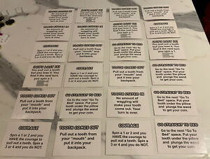 The Magic Tooth Fairy Board Game Spares  - FULL SET WOBBLY TOOTH CARDS