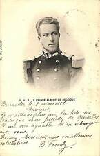FAMILLE ROYALE BELGE CARTE POSTALE SAR LE PRINCE ALBERT DE BELGIQUE 1902
