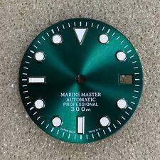 29MM 3 Pin O'clock Green Luminous Watch Dial Replacement for NH35 Watch Movement