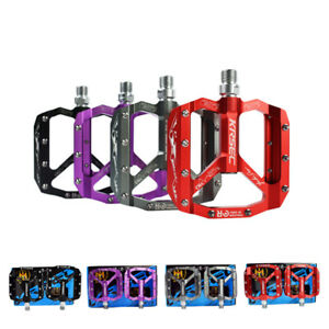 """Cycling 9/16"""" Bicycle Pedals Flat Aluminum Sealed Bearing For Road Mountain MTB"""