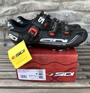 SIDI Dominator 7 Mtn Mountain Bike Cycling Shoes Black Mens Size 10-10.5 / 44.5