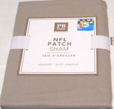 POTTERY BARN PB Teen NFL Football Solid Patch Pillow Sham Khaki NEW