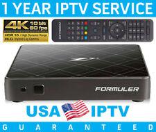 FORMULER Z7+ IPTV SET TOP BOX - W/12 MONTH IPTV SERVICE -ANDROID 7 • 4K