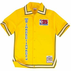 Mitchell Ness Golden State Warriors 1980-81 35th Patch Authentic Shooting Jersey