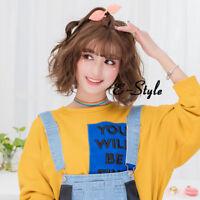 Lolita 31cm Short Wavy Bob Style Women Cosplay Wig Candy Braun DE Heat Resistant