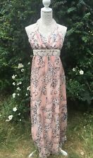 Stunning Size 8 Pink Dress Full Length Beads & Sequins Special Occasion Prom