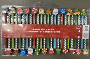 Creatology 48pc Holiday Pencil Party with Eraser*Christmas*Classrooms*Goodie Bag
