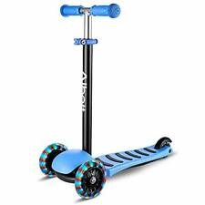Albott 3 Wheels Kick Scooter for Kids Toddlers Scooter w/ Pu Led Flashing Wheels