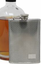 8 oz Stainless Steel Alcohol Liquor Flask in Etched Thatch Print